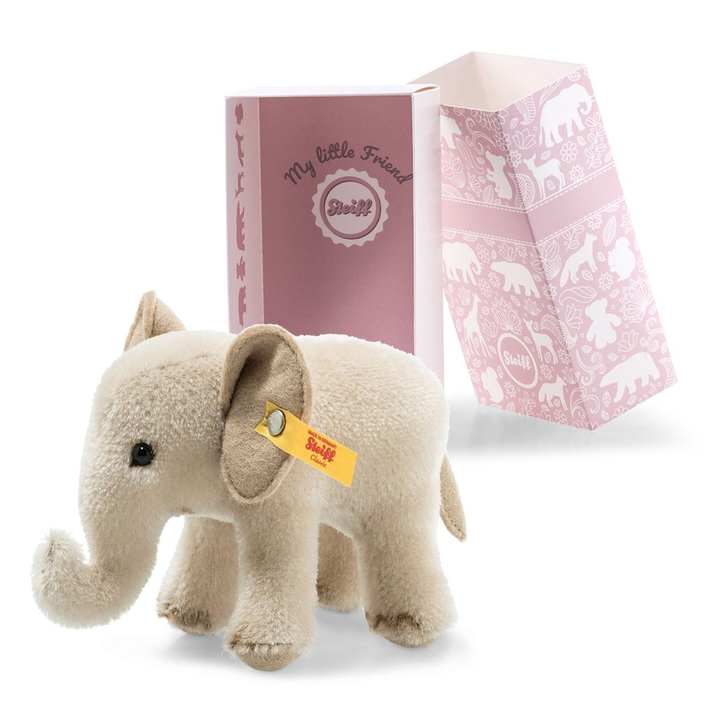 Steiff 德國金耳釦泰迪熊: Wildlife Giftbox Elephant