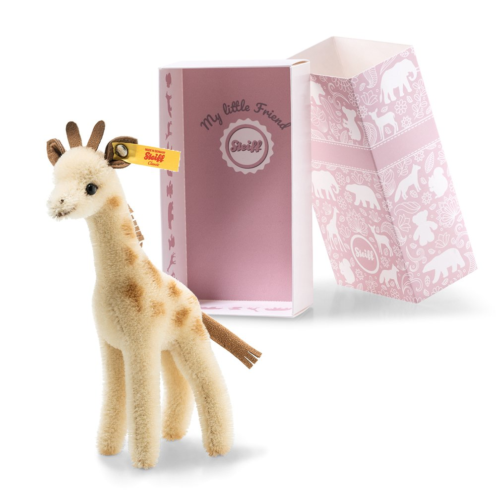 Steiff 德國金耳釦泰迪熊: Wildlife Giftbox Giraffe
