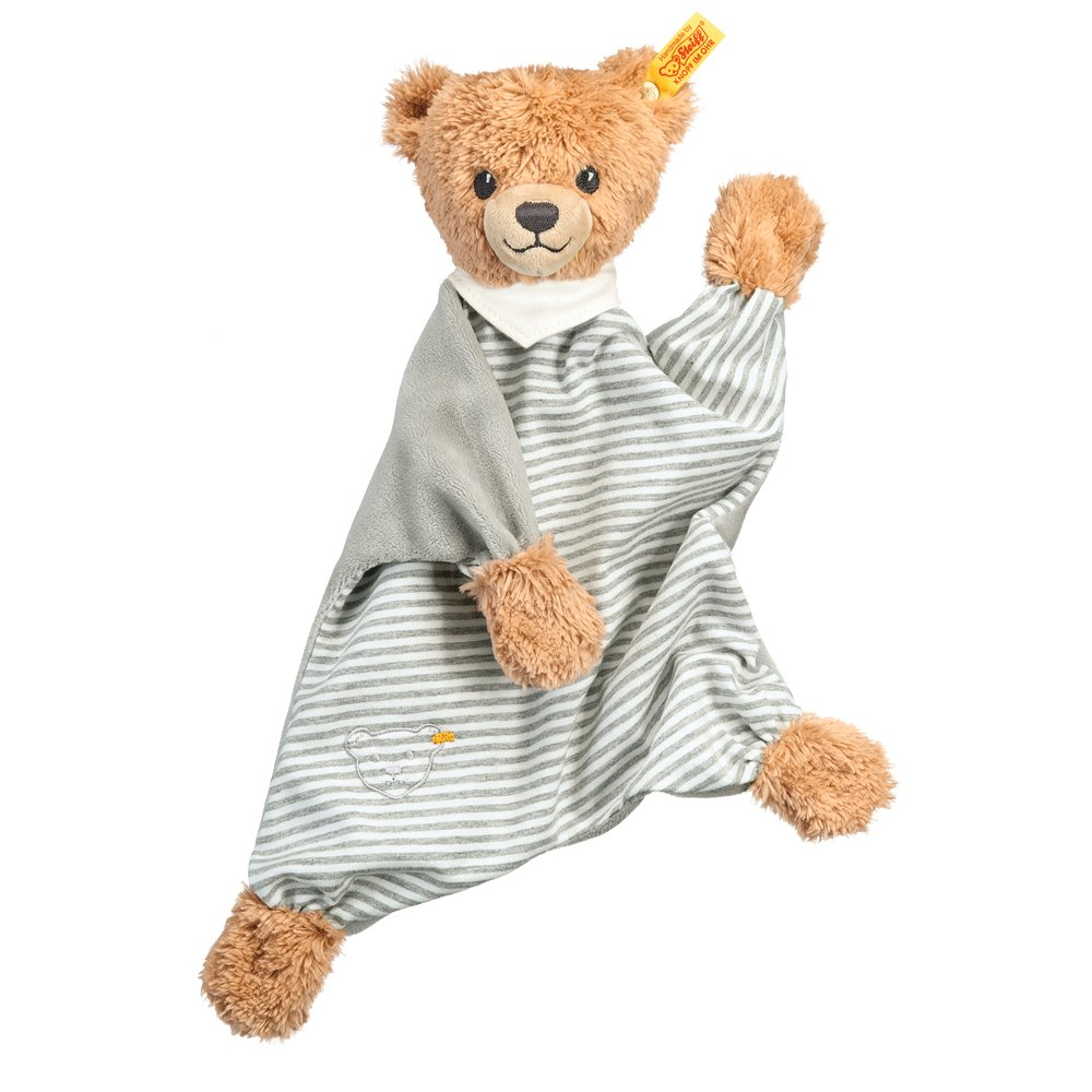 Steiff 德國金耳釦泰迪熊: Sleep Well Bear Comforter