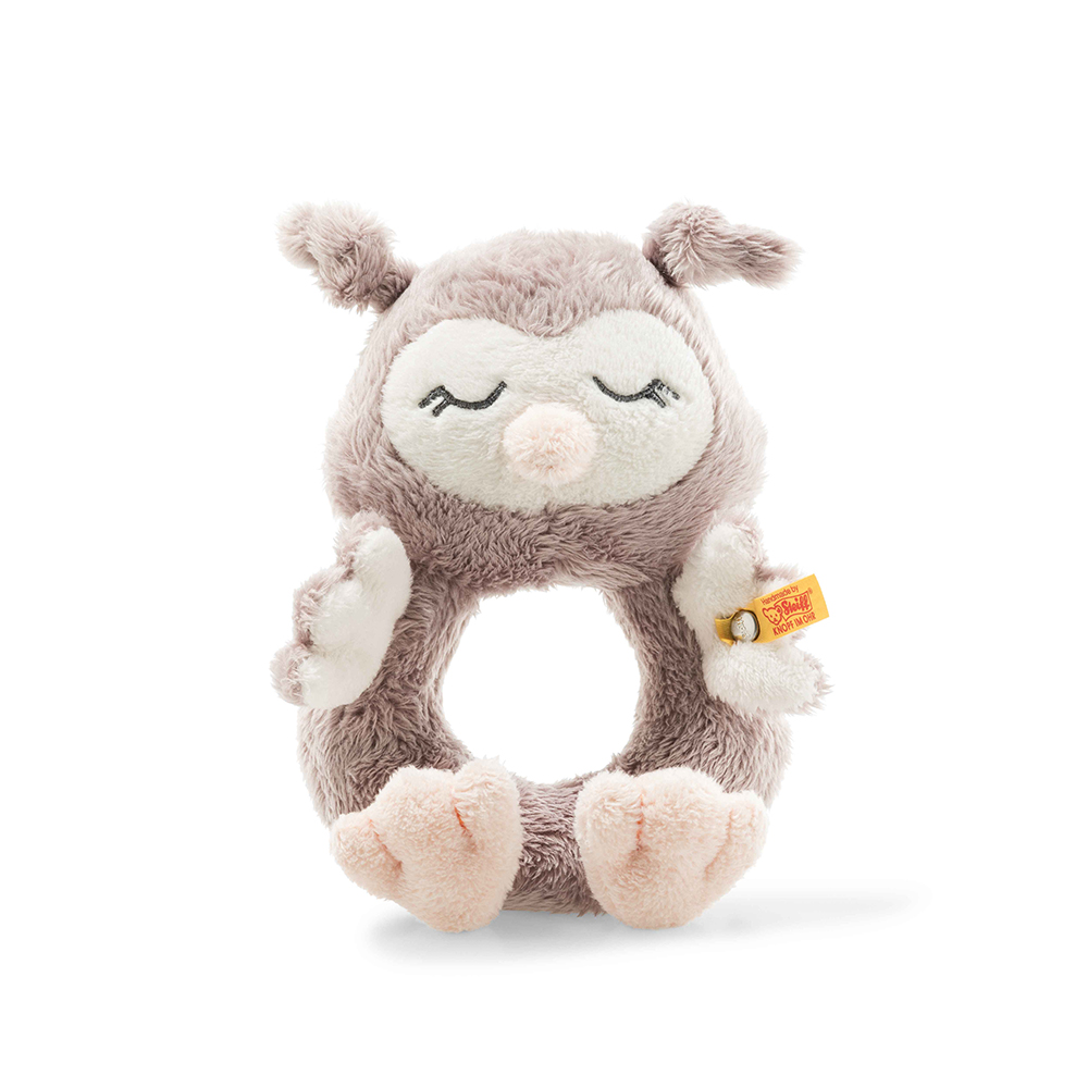 Steiff 德國金耳釦泰迪熊: Ollie Owl Grip Toy with Rattle