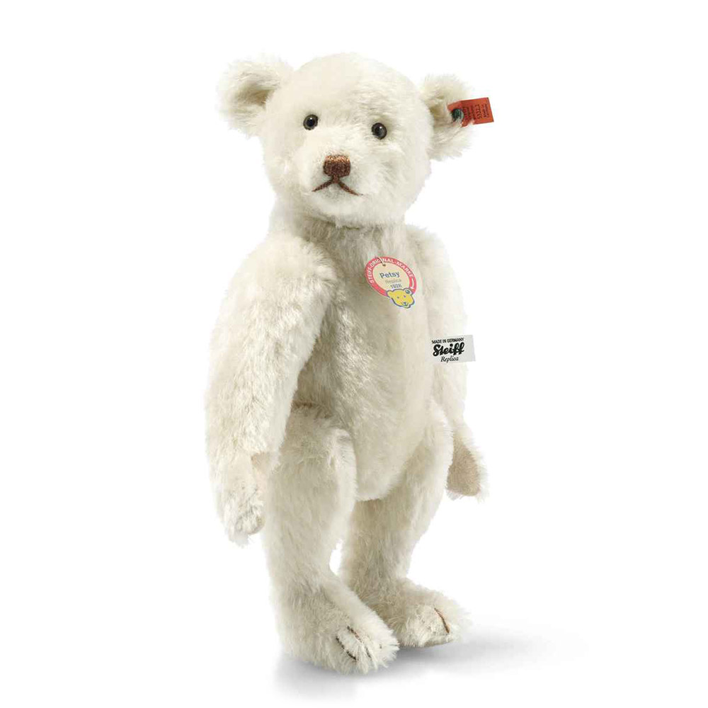 Steiff 德國金耳釦泰迪熊: Teddy Bear Petsy Replica 1928